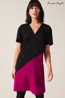 Phase Eight Black Jodina Colourblock Dress