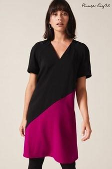 Phase Eight Black Jodina Colourblock Dress