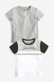 2 Pack Slogan T-Shirts (3mths-7yrs)