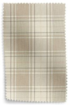 Soft Woven Check Natural Upholstery Fabric Sample