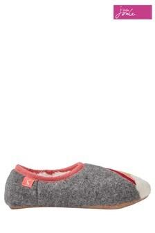 Joules Grey Rainbow Mule Slippers