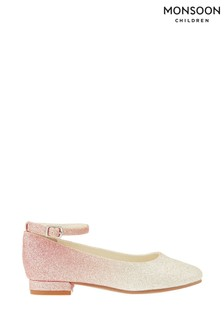 Monsoon Pink Ombre Glitter Mini Heels