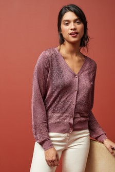 Pointelle Stitch Cardigan