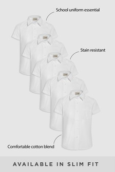 5 Pack Short Sleeve Formal Shirt (3-16yrs)