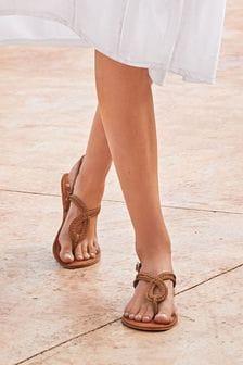 Forever Comfort® Double Plait Toe Thong Sandals