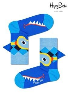 Happy Socks Blue Kids Shark Socks