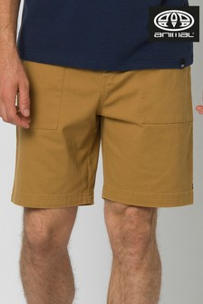 Animal Dijon Tan Silton Walk Shorts