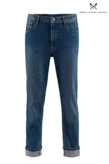 Crew Clothing Girlfriend-Jeans, Blau