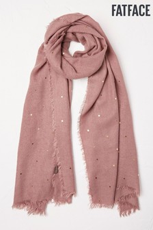 FatFace Purple Star And Moon Scarf