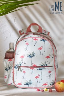 Kids Pink Flamingo Print Backpack
