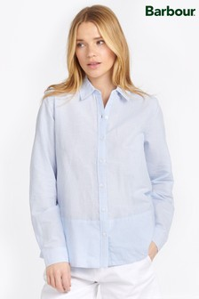 Barbour® Coastal Chambray Stripe Longstone Relaxed Fit Shirt
