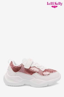 Lelli Kelly Pink Sequin Chunky Velcro Trainers