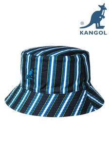 Kangol Navy Striped Reversible Bucket Hat