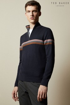 Ted Baker Allova Half Zip Funnel Neck Polo Jumper