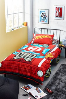 Hot Wheels Duvet Cover and Pillowcase Set