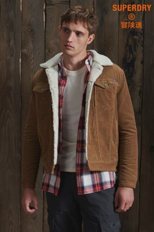 Superdry Highwayman Cord Sherpa Jacket