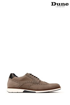 Dune London Brawl Grey Nubuck Lace-Up Brogue Shoes