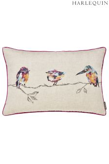 Harlequin Salice Embroidered Birds Cushion