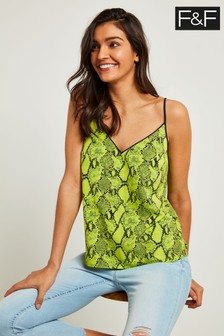 F&F Lime Neon Snake Tipped Cami