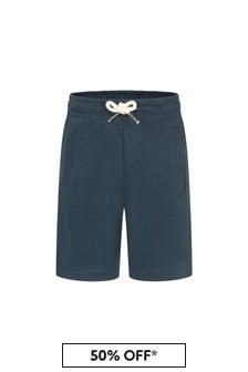 Molo Navy Cotton Shorts