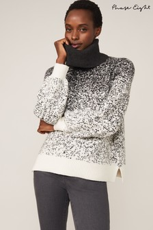 Phase Eight Grey Aveline Ombre Jacquard Jumper