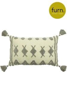 Furn Grey Esme Tassel Cushion