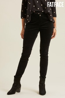 FatFace Black Velvet Jeggings