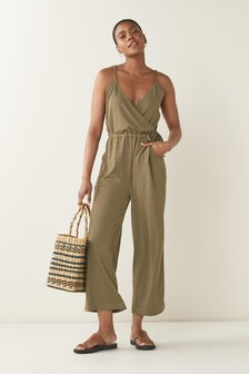 Jersey Cropped Jumpsuit