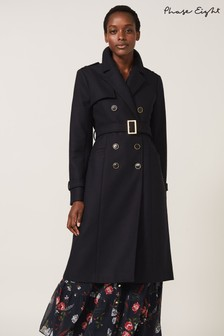 Phase Eight Blue Blue Manika Military Coat