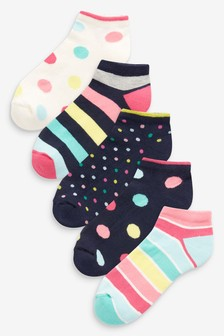 Cushion Sole Trainer Socks Five Pack