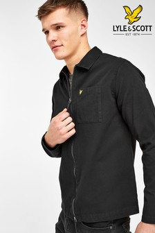 Lyle & Scott Black Twill Overshirt