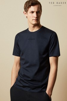 Ted Baker Blue Ocra T-Shirt With Embroidered Logo