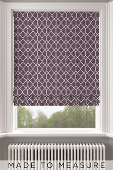 Earle Red Made To Measure Roman Blind