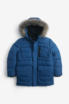 Longline Padded Jacket (3-16yrs)