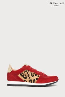 L.K.Bennett Red Ricky Haircalf Trainers