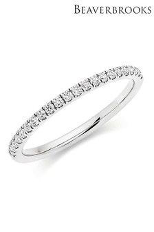 Beaverbrooks 18ct White Gold Diamond Ladies Ring
