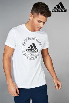 adidas White Emblem T-Shirt