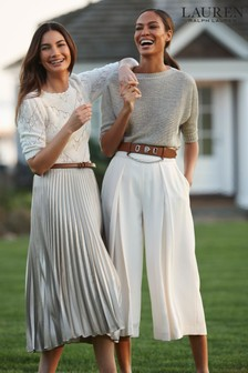 Lauren Ralph Lauren® Cream Valfrida Puff Sleeve Jumper