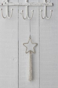 Silver Star Hanging Decoration