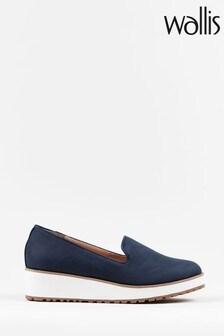 Wallis Blue Bria Eva Slip-On Loafers