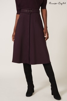 Phase Eight Purple Purple Utility A-Line Skirt