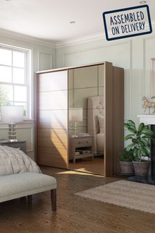 Elmsmore 2.1M Wood Sliding Wardrobe
