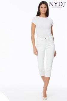 NYDJ Chloe Skinny Capri Jeans - Optic White