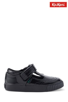 Kickers Infants Tovni Brogue T-Bar Patent Leather Shoes