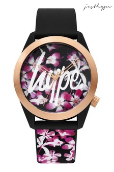 Hype. Black Floral Watch