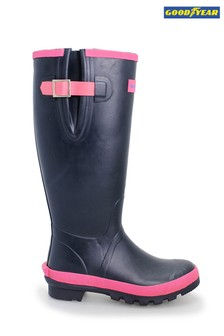 Goodyear Rubber Wellington Boots With Neoprene Lining