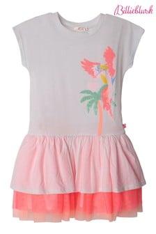 Billieblush White Tropical Frill Dress