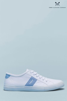 Crew Clothing Blue Canvas Trainers