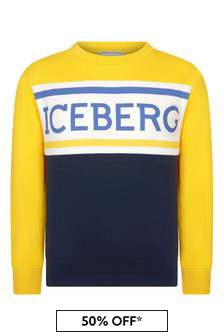 Ice Iceberg Boys Yellow Sweater