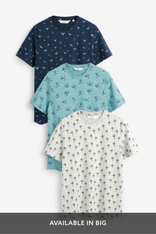 Pattern T-Shirts Three Pack